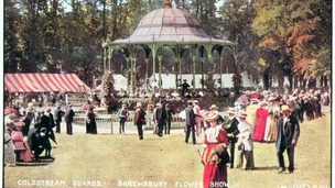 A photograph of what the Shrewsbury Flower Show used to look like