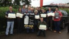 Dairy farmers protesting outside supermarkets