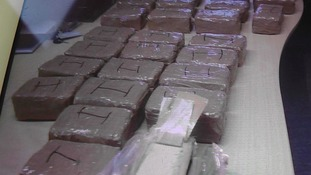 The drugs were valued at almost seven million pounds