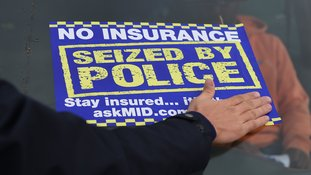 Uninsured sign