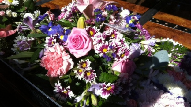 Funeral flowers for Charlotte Blackman