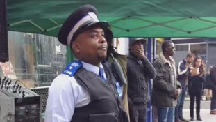 Policeman shows off smooth moves at festival