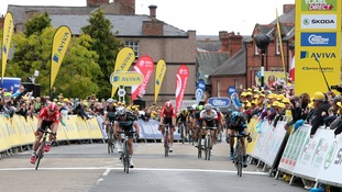 Sprint finish in Wrexham