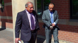 File photo from May 2015 of restaurant owner Mohammed Zaman, 52 (right) leaving Teesside Crown Court.