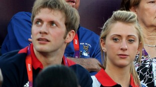 Laura Trott with boyfriend and fellow Team GB cycling member Jason Kenny