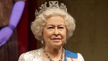 A wax figure of Queen Elizabeth II.