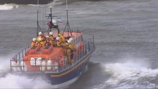 RNLI Lifeboats were used in the search for the missing man.