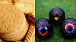 Thieves broke into the Royal British Legion club in Uttoxeter and made off with a bowling ball and a tin of biscuits