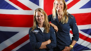 Saskia (right) with sailing partner Hannah Mills
