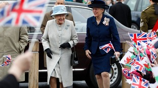 The Queen visits Aberfan in 2012