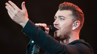 Singer Sam Smith who sings the theme for the new Bond film Spectre