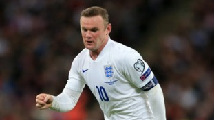 Rooney celebrating goal scoring record at Wembley
