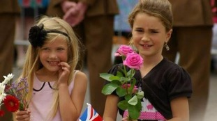 Grace was chosen to present flowers to the Queen.