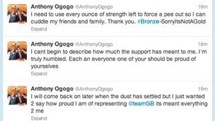 Ogogo's Twitter feed