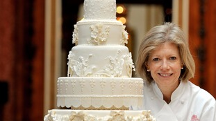 Fiona with the royal wedding cake she made back in 2011