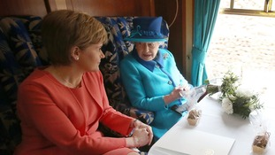 Her Majesty chatted with Scotland's First Minister Nicola Sturgeon during the journey from Waverley Station to Tweedbank.