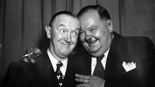 The duo in their later years during a visit to the Savoy, London in 1947