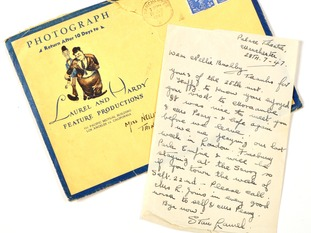 The rare letters were written by Stan Laurel in his later years