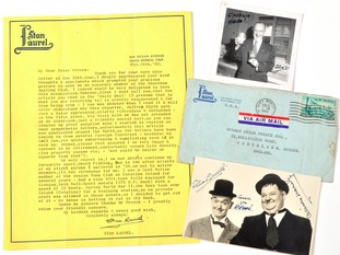 Some of the letters were written to Peter Preece, one of Stan Laurel's friends