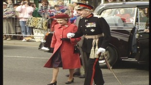 The Queen's visit to Cumbria in 1991.