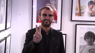 Ringo Star at his book launch this morning at the National Portrait Gallery.