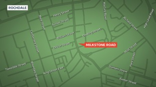 Map shows Milkstone Road.