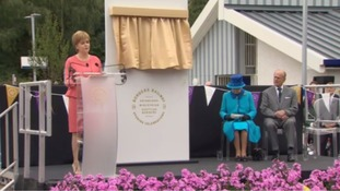Nicola Sturgeon welcomed the Queen.