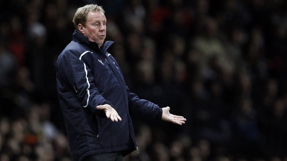 Redknapp on touchline against Manchester United