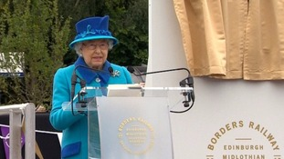 The Queen opened the new Railway.