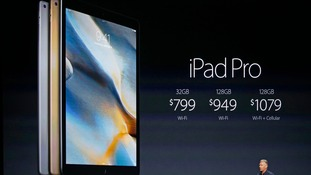 The US pricing of the iPad Pro is announced