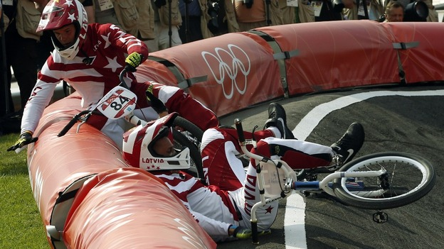Crash happened during the men's BMX semi-final run