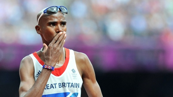 Great Britain's Mo Farah competes today.