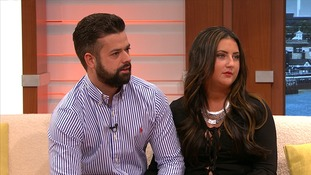Radley Ruszkiewicz and Kirsty Murray chat on the GMB sofa this morning.