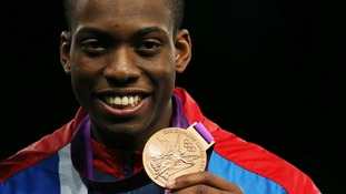 Great Britain's Lutalo Muhammad won bronze on Friday.
