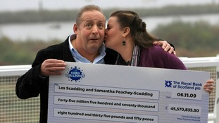 Les Scadding and his wife Samantha Peachey-Scadding.