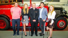 Daniel Thorpe, Leah Washington, Chief Fire Officer Peter Dartford, Joe Pugh and Victoria Balch