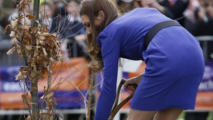 The Duchess of Cambridge planting a tree