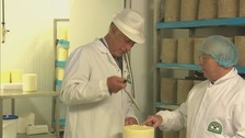 HRH Prince Charles was visiting the Wensleydale Creamery in Hawes, which takes its milk from farms in the Dales.