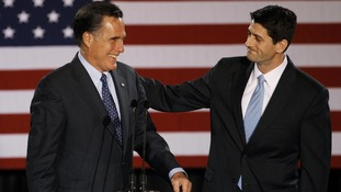 Paul Ryan pictured with Mitt Romney in Milwaukee in April this year