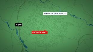 The crash happened in Ludwick Way, Welwyn Garden City on Thursday 10 September 2015.