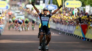 Cavendish out of Tour of Britain as Trentin wins in Nottingham