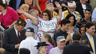 A supporter of Republican US presidential candidate Romney