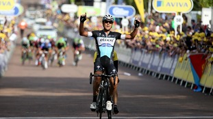 Matteo Trentin wins Stage Six of the Tour of Britain from Stoke-on-Trent to Nottingham