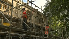 Restoration work being carried out on St Nicholas Chapel last summer