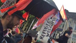 Refugees welcome umbrella