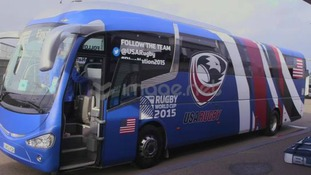 USA Rugby tour bus