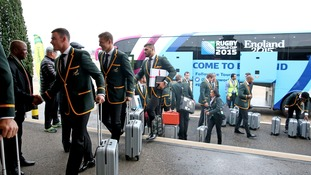 The Springboks arrive