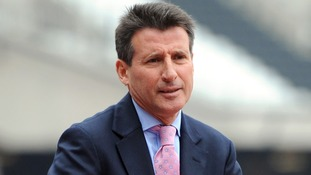 Lord Coe in the Olympic Stadium.
