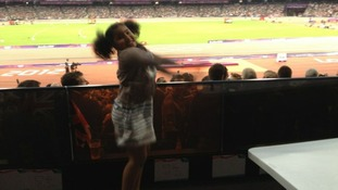 Rihanna Farah at the Olympic stadium