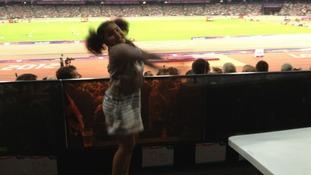 Rihanna Farah at the Olympic stadium